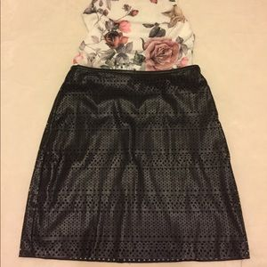 Black fo-leather skirt